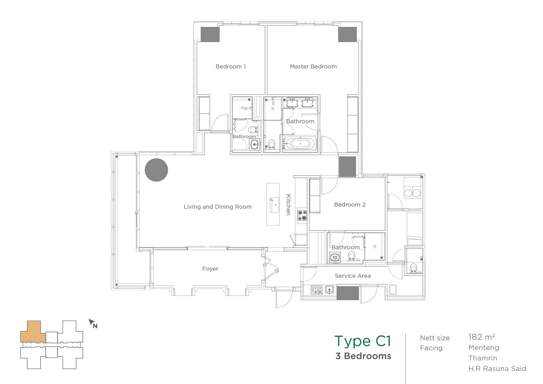 Unit layout monteverde