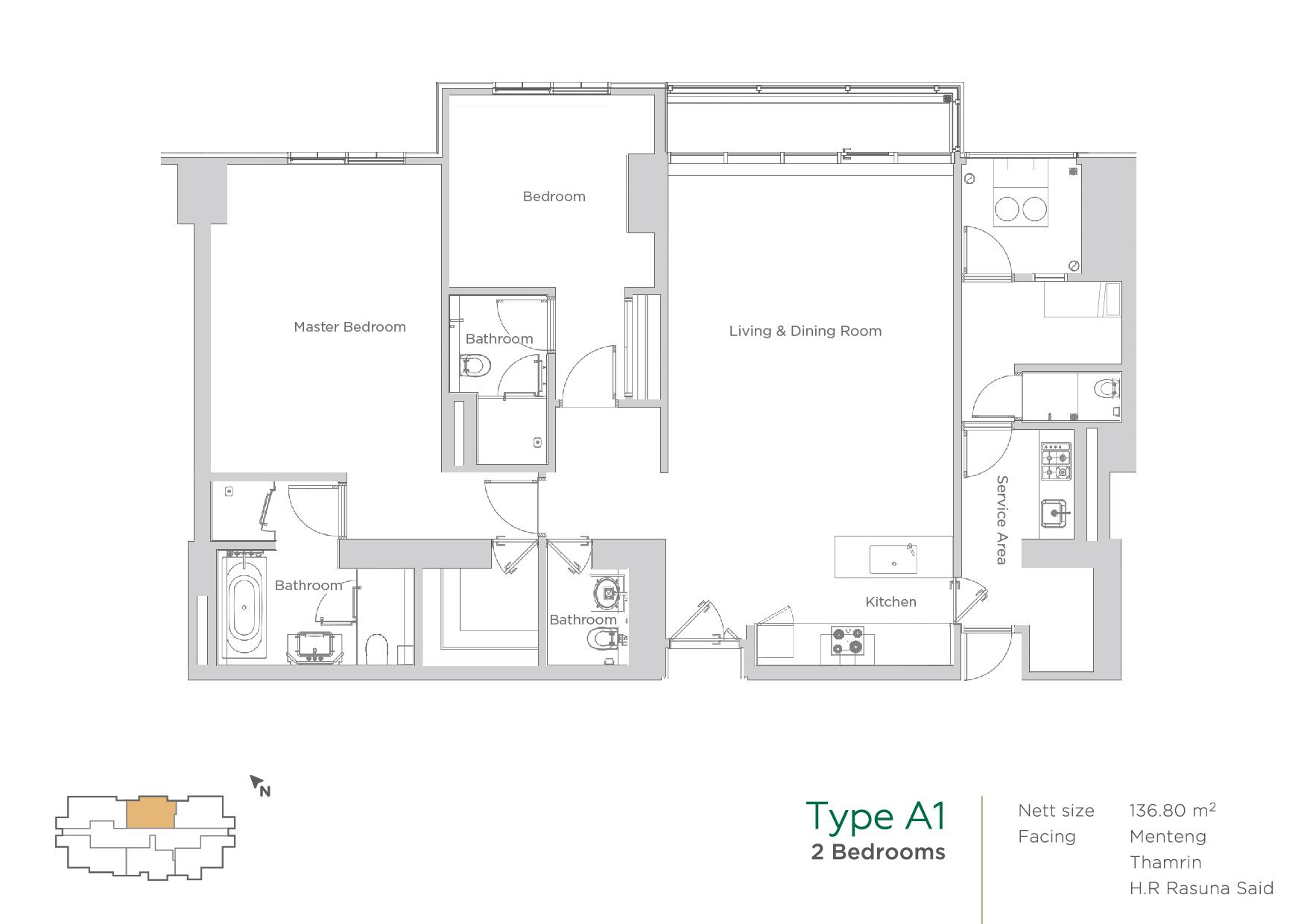 Terraverde unit layout type A1