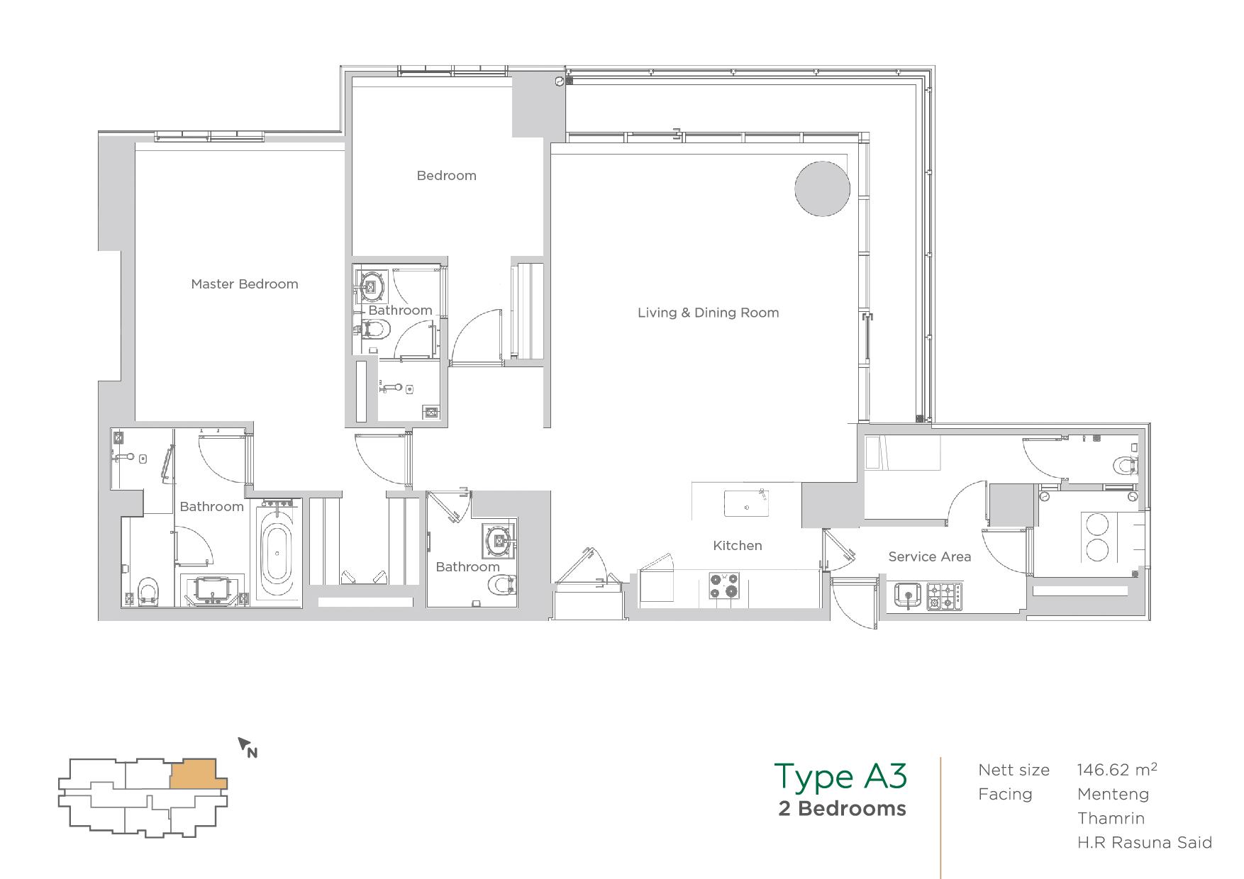 terraverde unit layout type A3
